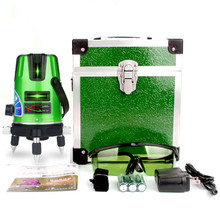 2 lines 3 points Self-leveling Green Light Laser Level Laser Profissional And 360 Degree Rotary Cross Line Laser Nivel