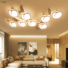 Modern Apple Acrylic Led Ceiling Chandelier Lights White Metal Living Room Dimmble Led Chandelier Lighting Bedroom Led Fixtures(China)
