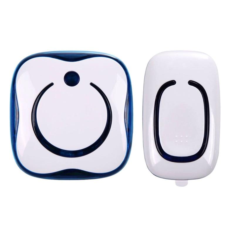 AC 100-240V Blue Wireless Digital Household Doorbell Ring 36 Melodies Waterproof 280M Long-range 110-2 US Plug FULI<br><br>Aliexpress