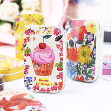 Novelty Picture Mac Makeup Lipstick Organizer 4 Piece/Lot High Quality Tin Box Candy Box Metal Tea Jewelry Case Container