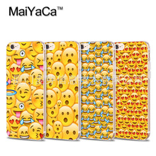 The latest cute Emoji combo Soft Transparent TPU Phone Case Accessories Cover For iPhone 5s 6s 7 plus case