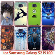 Phone Cases For Samsung Galaxy SII I9100 S2 GT-I9100 Cases Spider Flower Eyes Hard Back Cover Skin Shell Housing Sheath Bag Hood
