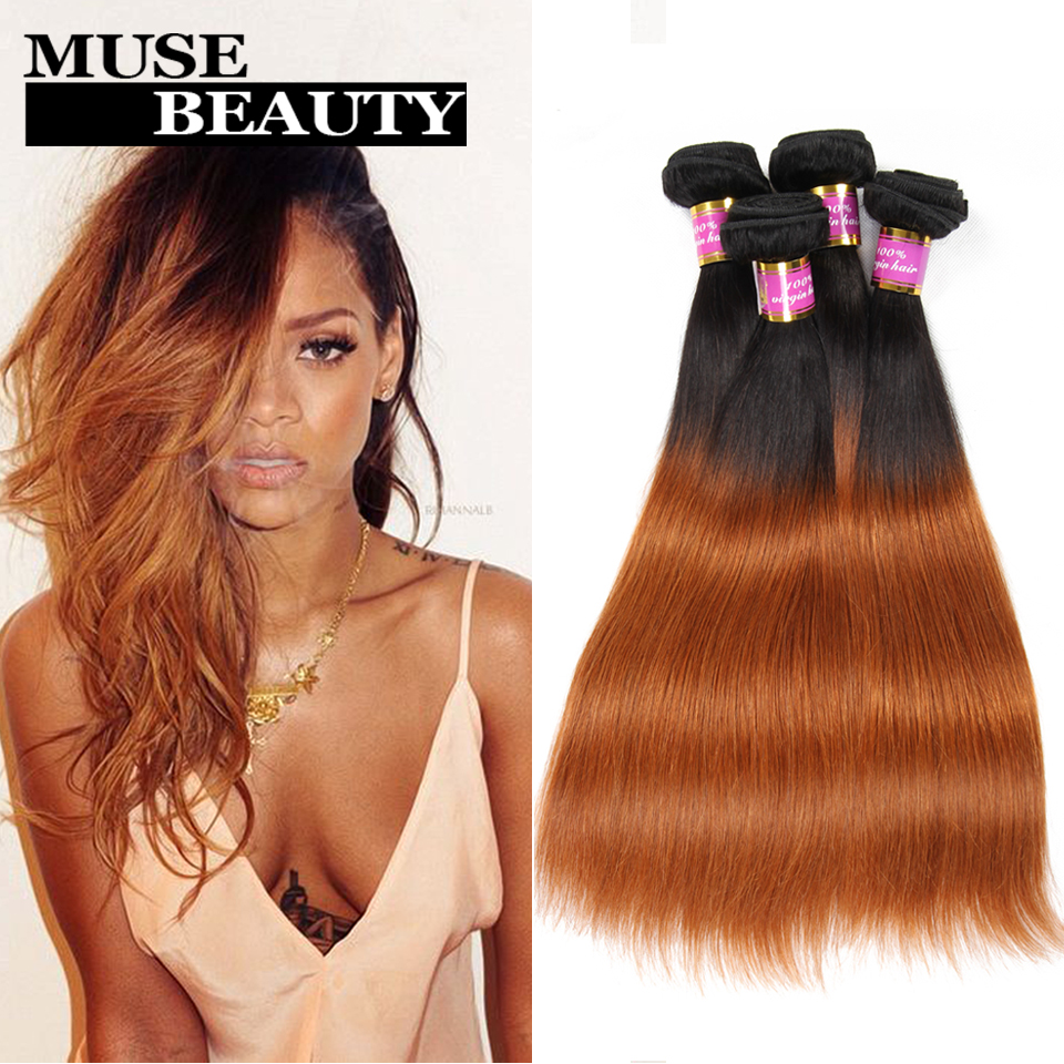 Queen 1B 30 Ombre Brazilian Hair Straight 10A Brazilian Virgin Hair Straight Ombre 4 Bundles Deals Two Tone Brazilian Weave Hair<br><br>Aliexpress