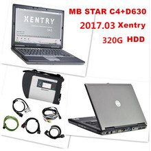 TOP-RATED D630 Laptop With Best MB STAR C4 With HDD 320G 2017.07v Xentry Compact 4 Mercedes B-enz Diagnosis Tools DHL Free Ship(China)