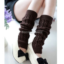 Hot 2016 Fashion New Women Ladies Winter Dance Knitted Crochet Leg Warmers High Boots Toppers Socks Long Knit Boot   Cuffs Z1