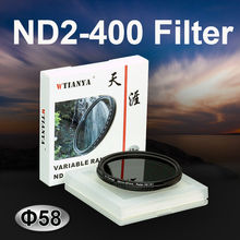 WTIANYA 58mm ND2-400 Fader Variable Neutral Density ND Filter 58 mm for DSLR Camera Adjustable ND2 ND4 ND8 to ND400