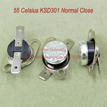 Buy 10pcs/lot KSD301 Thermostat Normally Normal Close 55 Degrees Celsius Thermostat Switches NC Temperature Switch for $3.21 in AliExpress store