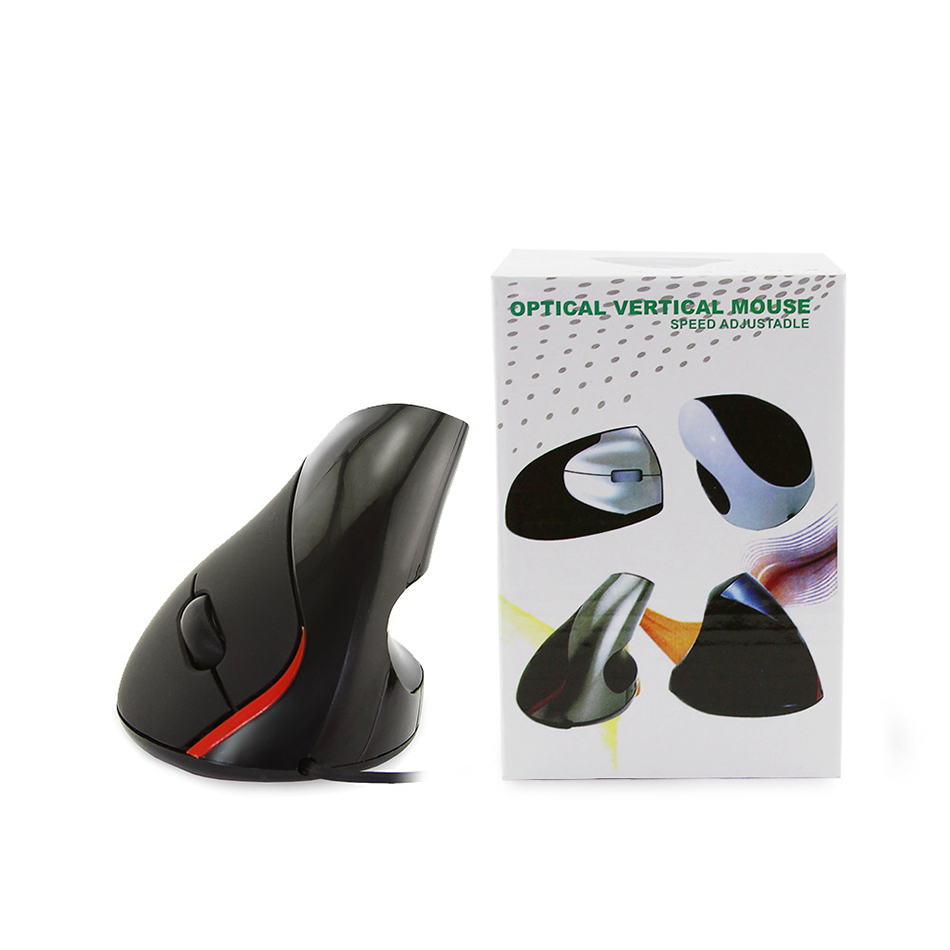 iM Desktop PC Office Mice Ergonomics Wired Mouse  1600dpi Photoelectric USB Vertical Mouse Vertical Hand-held 5-button Mice