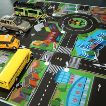 Traffic scene map 70cm*70cm Children Educational Toy Car Parking Lot Map City Simulation Scene Map