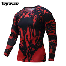 2017 Men Quick Dry Fit Long Sleeve Compression Running T Shirt For Men Sports Fitness Football Jogging Tight Top Tee Shirts XXL(China)