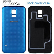 100% OEM Housing Battery Back Cover case for Samsung Galaxy S5 i9600 Replacement Door Case Ultra thin with silicone layer