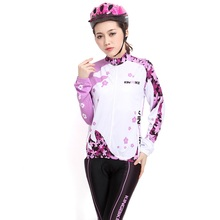 2017 Women's Lycra Breathable Winter Pink Thermal Cycling Clothing Sets Long Sleeve Cycling Jersey Set Cheap Cycling Jerseys(China)