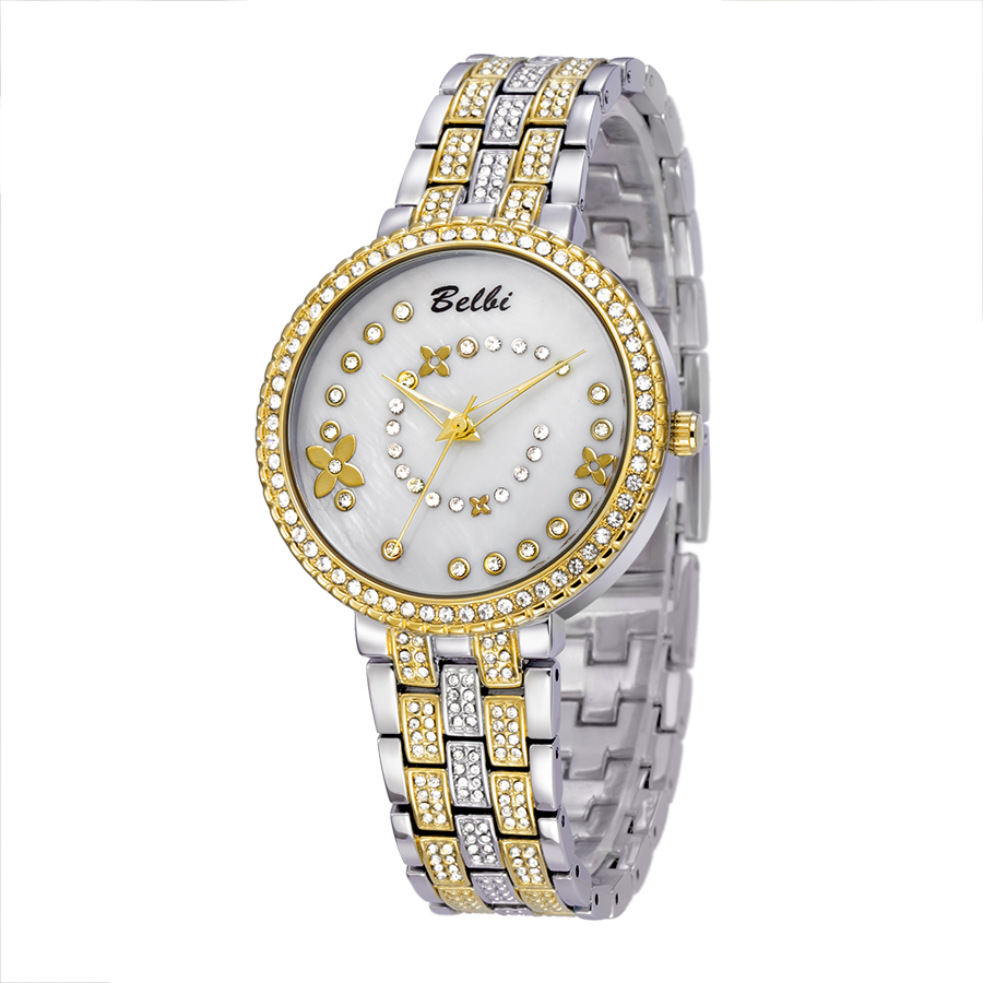 2017 Top Brand Luxury Gold Watches Womens Quartz Wristwatches Ladies Alloy Strap Watches Flower Dial Design Hodinky Women<br><br>Aliexpress