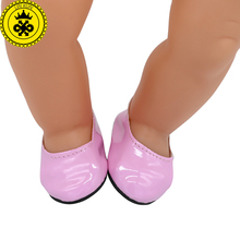 Baby Born Doll Shoes 13 Styles Fashion Pink Blue Leather Shoes Fit 43cm Zapf Baby Born Doll Accessories xie549(China)