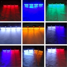 4X22 LED Strobe Emergency Flashing Warning Light Car Truck Lights Strobe Lights 12V Red Blue Amber White Green 88LED