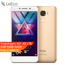 Original Letv Cool Changer S1 Leeco Cool S1 5.5'' Snapdragon 821 6GB RAM 64GB ROM  Fingerprint ID 4070mAh 4G LTE Mobile phone