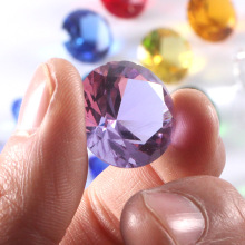 20mm Purple Color Quartz Crystal Glass Diamond Paperweights Crystals Feng Shui Crystals Crafts For Home Weding vase Decor gifts