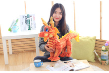 big lovely plush chinese dragon toy cute tranditional red Chinese dragondoll gift about 80cm(China)