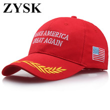 Buy ZYSK 2018 Make America Great Letter Print Donald Trump Hat Cap Republican Snapback Baseball Caps Hat President USA Hat for $2.39 in AliExpress store