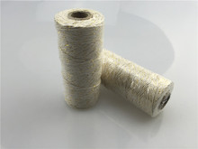 1pc/lot (110yards/spool) 12ply Striped Metallic Gold Cotton Bakers Twine Roll Gift Wrapping Wedding Favors Hanging Decorations(China)