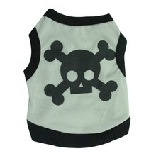 Summer Dog Vest Skull Vest for Pet Dog Clothes Chihuahua Doggy Puppy T-shirt Poodle Teddy Costume dog tshirt Pet Clothing(China)