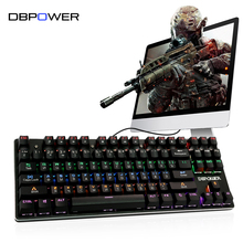 DBPOWER Russian/English Mechanical Keyboard Backlit Blue Switch 87/104 Keys LED Backlight Keyboard for PC Tablet Teclado Gamer