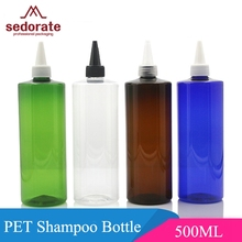 Sedorate 10 pcs/Lot 500ML PET Plastic Cosmetic Refillable Bottle Needle Top Droper Liquid Makeup Bottle Containers JX053(China)