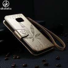 Buy AKABEILA Flip Wallet Case Samsung Galaxy S7 Edge Case G935A G935F G9350 M-G935A Phone Case Maple Leaf PU Leather Back Cover for $3.99 in AliExpress store
