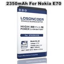 LOSONCOER 2350mAh Battery for Nokia QDA+ 2110 2116 2125 2855 2865 6015i 6016i 6019i 6152 6152 6275 E70 6255 BL-6C Battery(China)