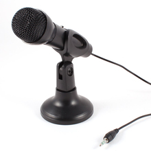 Omnidirectional Laptop PC Computer 3.5mm Network Stand Mini Microphone Mike Black(China)