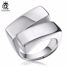 ORSA JEWELS 316L Stainless Steel Fashion Male Rings Unique Design Jewelry Gift USA Size#8 - #12 Ring for Men GTR06