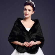 Winter Black Faux Fur Wedding Boleros 2017 Red Warm Bridal Jackets Coats Ivory Women Cloak Shawls Capes Wedding Accessories B138