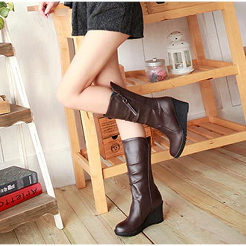 9d03c3ec63c Mid-Calf Boots Cheap Mid-Calf Boots Women  s Wedges Heel Platform Mid Calf.We  offer the best wholesale price