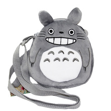 20cm by 18cm Japanese Anime Totoro Plush Coin Bag Ghibli Stuffed Toys Baby Kids Children Soft Toys Gift Messenger Bag(China)