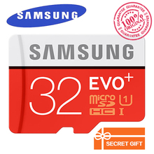 Genuine Samsung EVO+ micro sd card 32gb 128gb 64gb Class 10 memory card SDHC SDXC TF card microsd up to 80mb/s cartao de memoria(China)