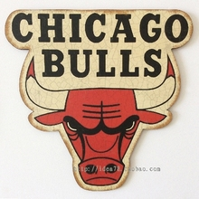 CHICAGO BULLS NBA East Conference Team Logo Retro decorative plate Poster Wall Chart Basketball Decorative Wall Sticker