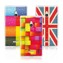 Newest Floral Hard Plastic Case For Nokia XL Dual SIM RM-1030 / RM-1042 Colorful Flower Painted Back Cover Free Pen