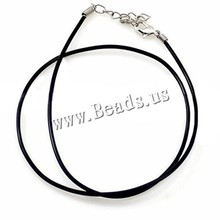 Buy YYW 50pcs 17 Inch 2mm DIY Jewelry Making Wholesale Accessories Black Rubber Cord Necklace Punk Simple String Necklace Cord DIY for $8.70 in AliExpress store