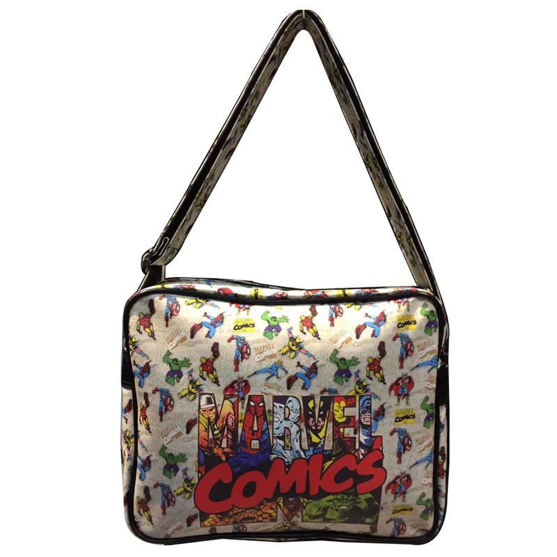 Marvel Comics Leather Bag Men Women Anime Messenger Bags The Avengers Superman Captain America Bat-man Deadpool bolsas Bags<br><br>Aliexpress