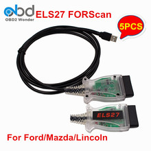 5Pcs/Lot ELS27 FORScan Scanner Better Than ELM327 Code Scanner For Ford/Mazda/Lincoln And Mercury Vehicles Free Shipping(China)