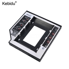 "kebidu Universal Aluminum Plastic 2nd HDD SSD caddy 12.7mm SATA 3.0 For 2.5"" Hard Disk Driver Case Enclosure DVD CD-ROM Optibay(China)"