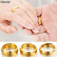 Promotion 24K gold ring wedding rings for men women tungsten couple jewelry wholesale