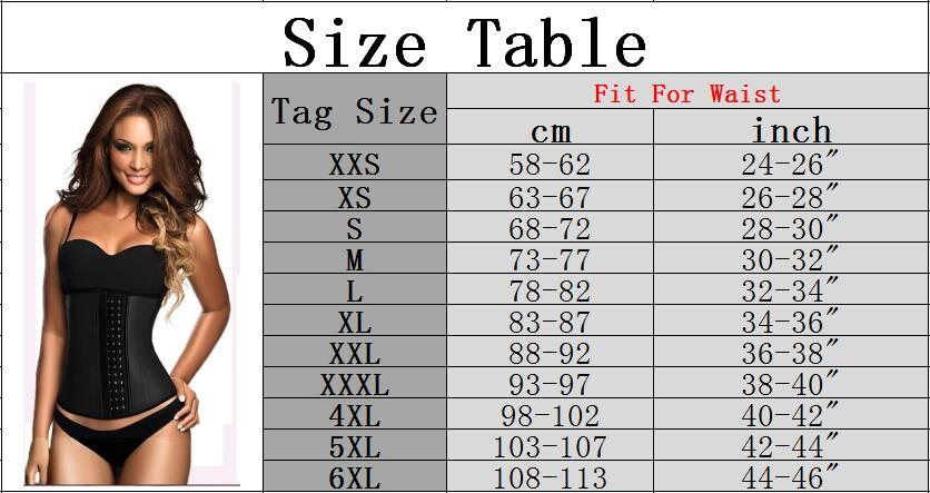 The Ultimate Waist Trainer Size Chart