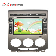 New Capacitive Screen Car DVD Player for Mazda 5 with GPS, Radio, BT, SWC Mirror Link+Free 8G Map Card and Analog TV Antenna
