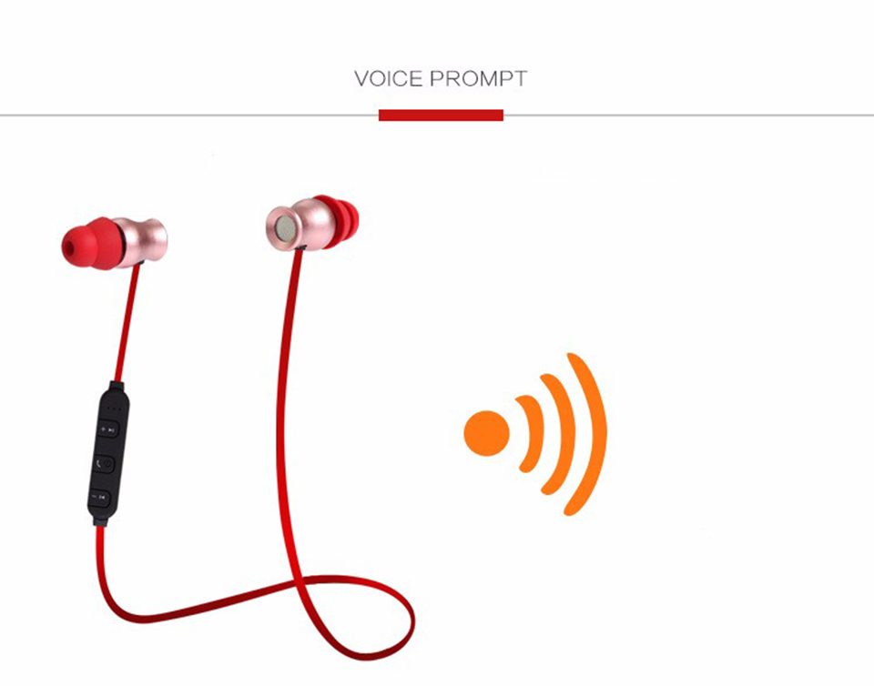 Fashion KDK-02 Metal Magnetic Bass Stereo Sound Sport Earbuds Wireless Bluetooth Earphone With Mic Smart Phone Headset