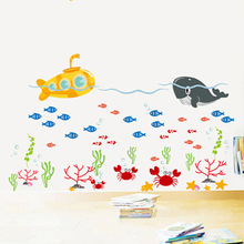 Hot style sell like hot cakes can remove Marine animals underwater world aquarium glass bathroom decorative wall stickers