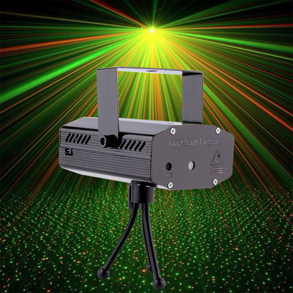 Worldwide Mini Projector R&amp;G DJ Disco Light Stage Xmas Party Laser Lighting Show DJ-BK US PLUG<br><br>Aliexpress