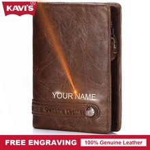 KAVIS Brand Design Genuine Leather Wallet Men Portomonee PORTFOLIO Magic Male Cuzdan Slim Card Holder Perse Fashion Gift For Man(China)