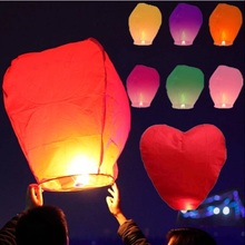 New 10 pcs/lot Flying Wishing Kongming Lantern Hot Air Balloon Cute Love Heart Sky Lantern for Birthday Wedding Party Decoration