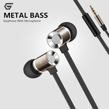 Metal Bass Earphone Headset Mini Ear In-Ear Micro Earbuds Stereo Sport Headphone for Phone Xiaomi Samsung Apple iPhone 6 6S 5 4
